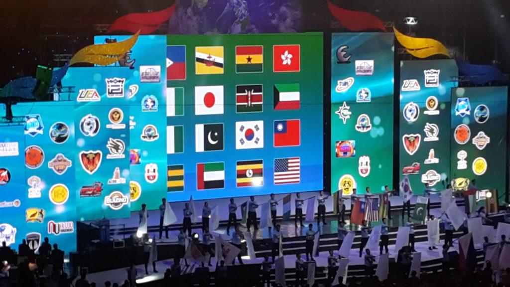 Flag Presentation aim global 10th year anniversary