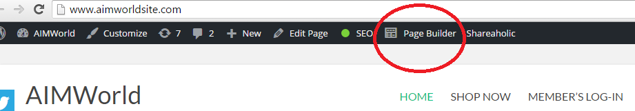 Create a website page builder