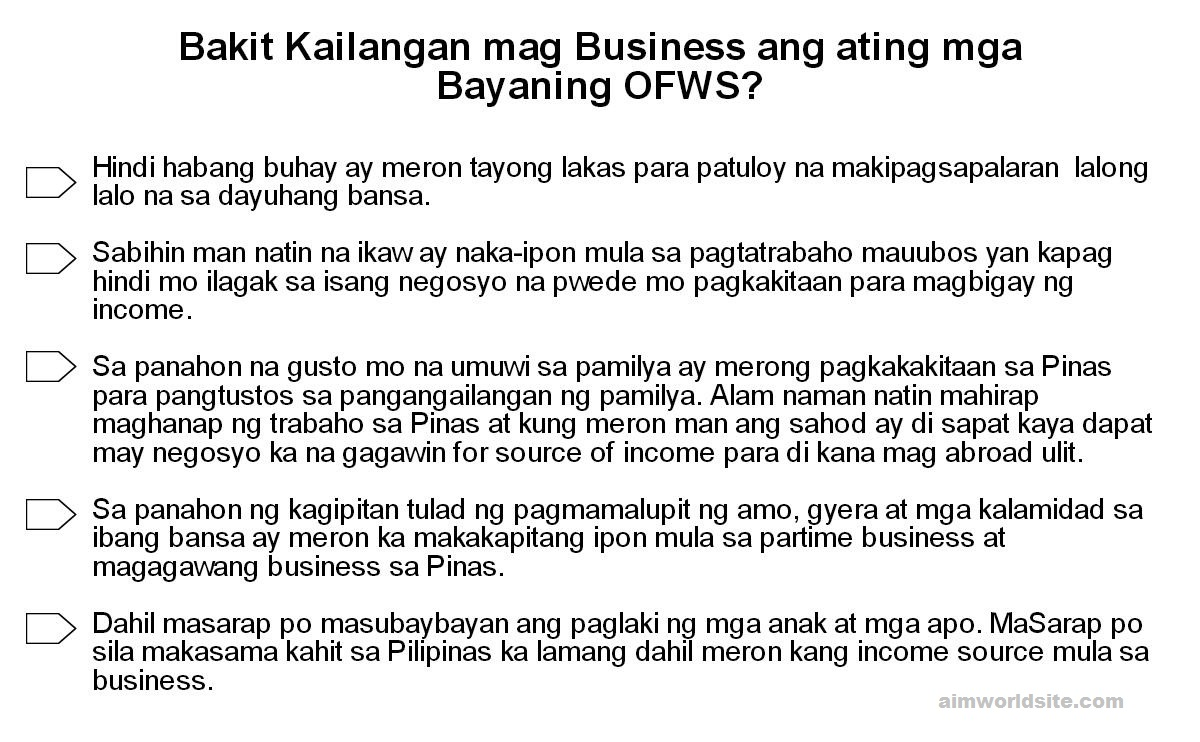 OFW For Good Business