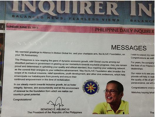AIM Global Benigno Aquino III.