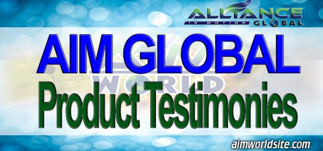 AIM Global Product Testimonies