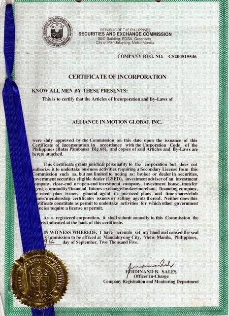 AIM global Legit SEC REGISTRATION