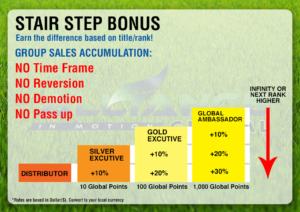 stair step bonus aim global marketing plan