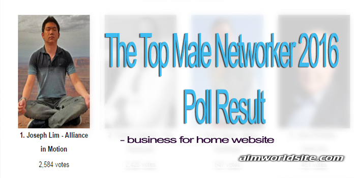 The Top Male Networker 2016 Poll Result