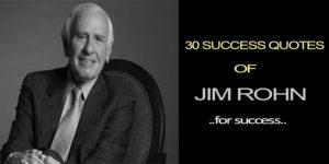 30 Success Quotes of Jim Rohn