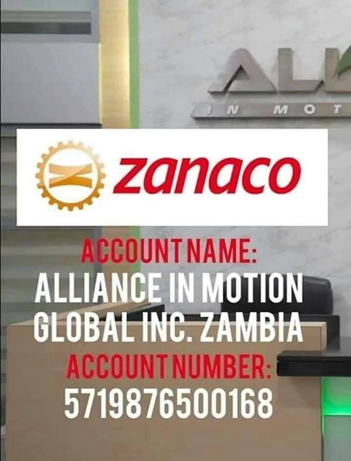 aim global bank account zanaco